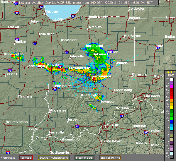 Radar Image for Severe Thunderstorms near Hillsboro, IN at 7/11/2020 5:07 PM EDT