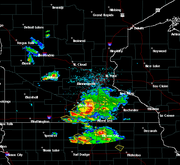Radar Image for Severe Thunderstorms near Hartland, MN at 7/11/2020 4:08 PM CDT