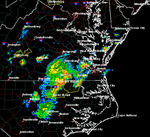 Radar Image for Severe Thunderstorms near Lasker, NC at 6/30/2015 9:46 PM EDT