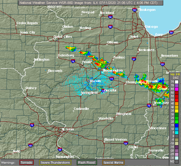 Radar Image for Severe Thunderstorms near Fisher, IL at 7/11/2020 4:14 PM CDT