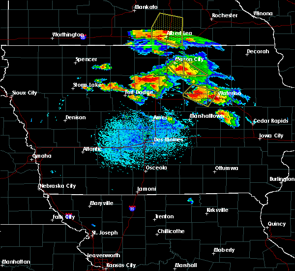 Radar Image for Severe Thunderstorms near Rockwell, IA at 7/11/2020 4:23 PM CDT