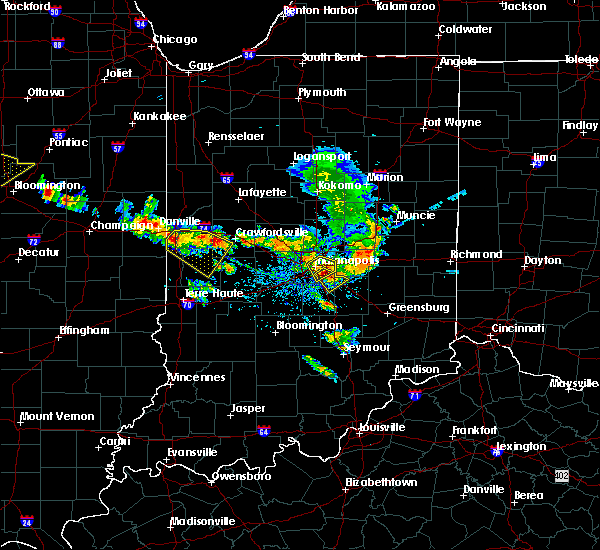 Radar Image for Severe Thunderstorms near Indianapolis, IN at 7/11/2020 5:23 PM EDT