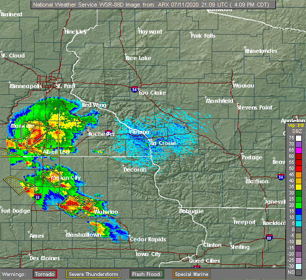 Radar Image for Severe Thunderstorms near Rudd, IA at 7/11/2020 4:25 PM CDT