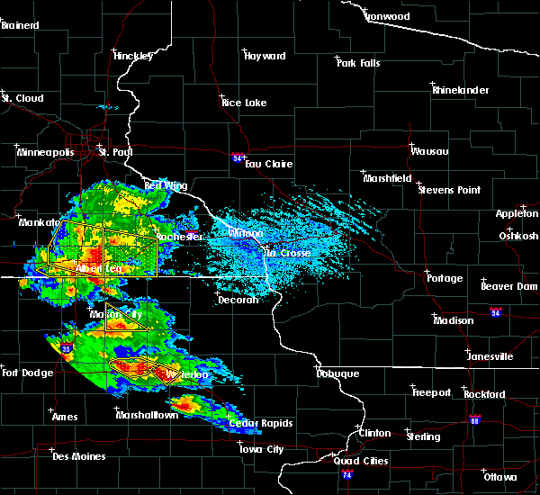 Radar Image for Severe Thunderstorms near Adams, MN at 7/11/2020 4:42 PM CDT