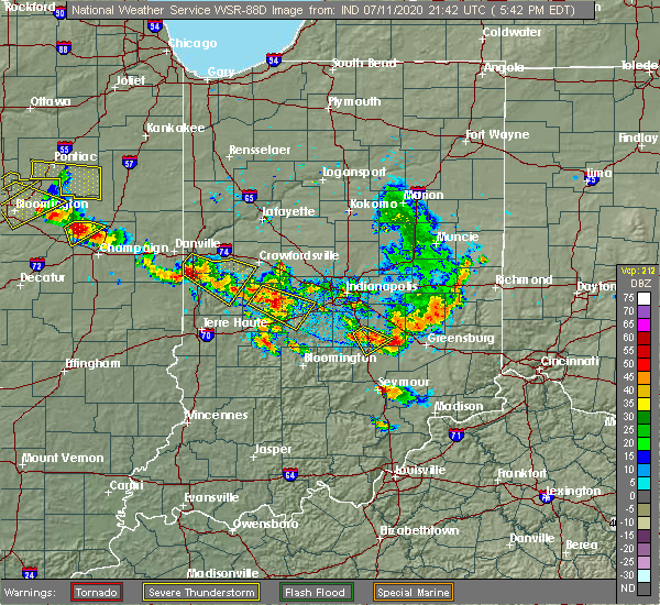 Radar Image for Severe Thunderstorms near Bloomingdale, IN at 7/11/2020 5:46 PM EDT