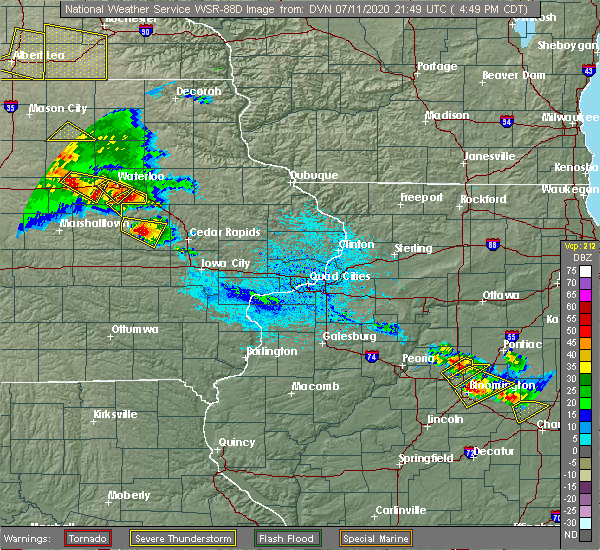 Radar Image for Severe Thunderstorms near Brandon, IA at 7/11/2020 4:53 PM CDT