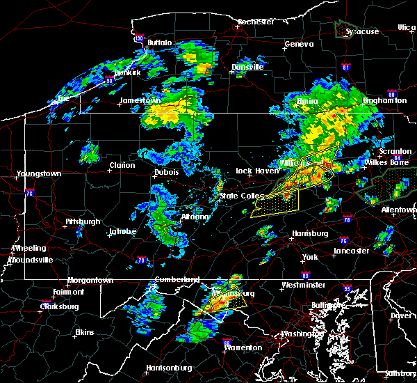 Radar Image for Severe Thunderstorms near Muncy, PA at 6/30/2015 9:51 PM EDT
