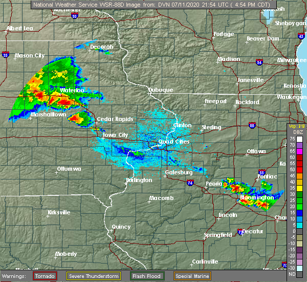 Radar Image for Severe Thunderstorms near Brandon, IA at 7/11/2020 5:01 PM CDT