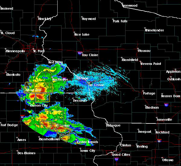 Radar Image for Severe Thunderstorms near Adams, MN at 7/11/2020 5:02 PM CDT