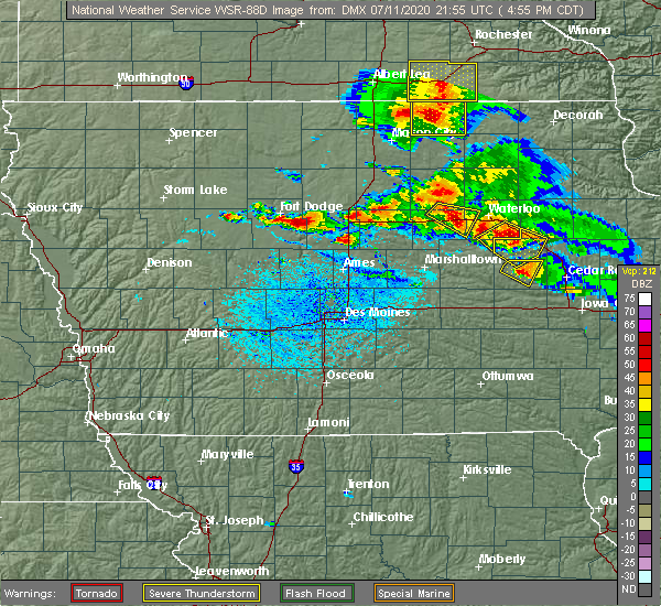 Radar Image for Severe Thunderstorms near Jewell Junction, IA at 7/11/2020 5:04 PM CDT