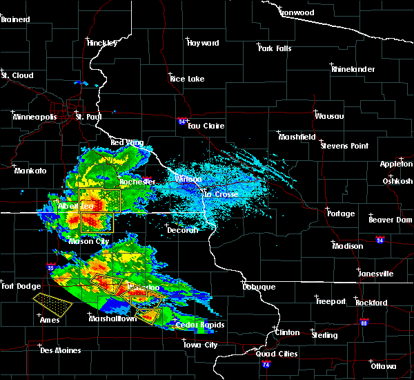 Radar Image for Severe Thunderstorms near Racine, MN at 7/11/2020 5:07 PM CDT