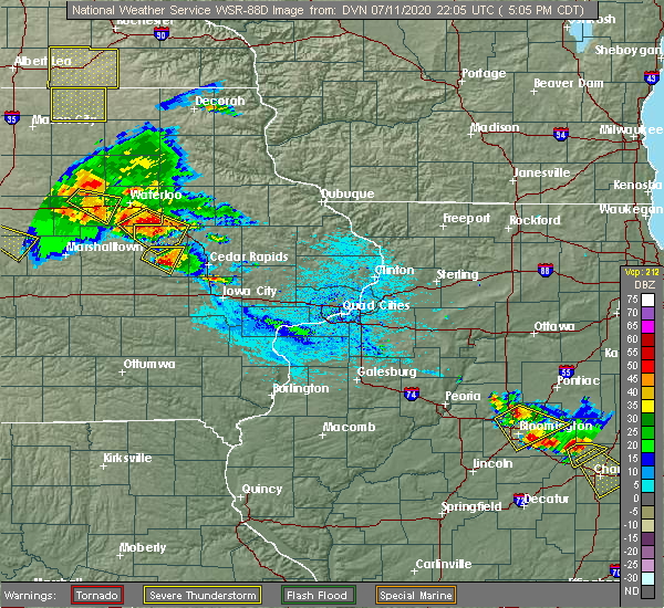 Radar Image for Severe Thunderstorms near Newhall, IA at 7/11/2020 5:10 PM CDT