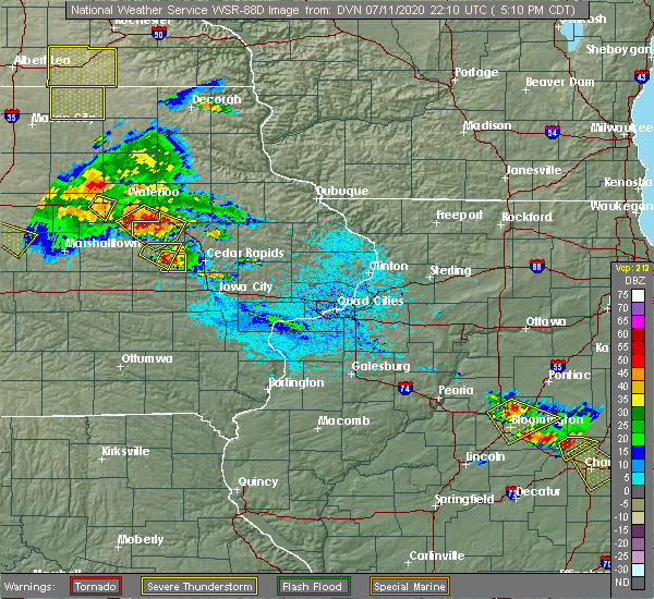 Radar Image for Severe Thunderstorms near Brandon, IA at 7/11/2020 5:14 PM CDT