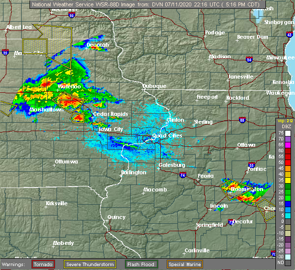 Radar Image for Severe Thunderstorms near Brandon, IA at 7/11/2020 5:25 PM CDT