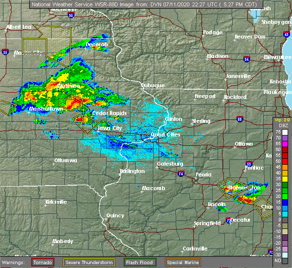 Radar Image for Severe Thunderstorms near Vinton, IA at 7/11/2020 5:31 PM CDT