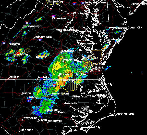 Radar Image for Severe Thunderstorms near Hampton, VA at 6/30/2015 9:55 PM EDT