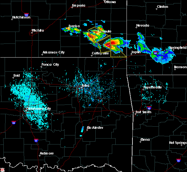 Radar Image for Severe Thunderstorms near Baxter Springs, KS at 7/11/2020 5:44 PM CDT