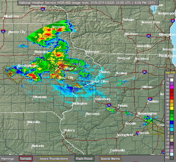 Radar Image for Severe Thunderstorms near Martelle, IA at 7/11/2020 6:16 PM CDT