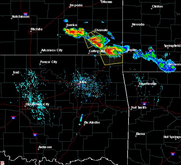 Radar Image for Severe Thunderstorms near Picher, OK at 7/11/2020 6:22 PM CDT