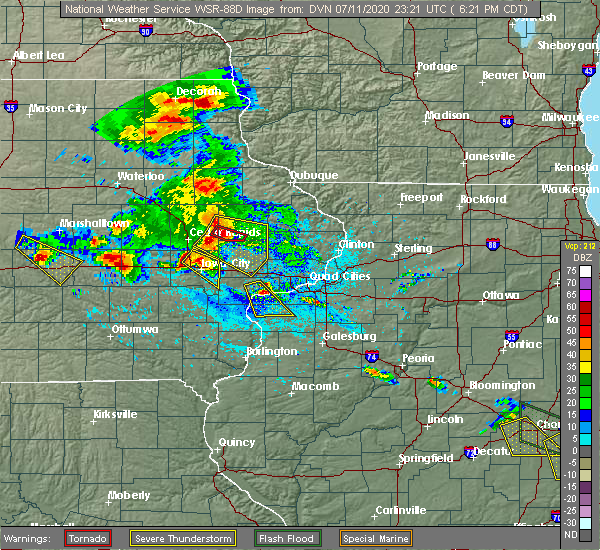 Radar Image for Severe Thunderstorms near Martelle, IA at 7/11/2020 6:24 PM CDT