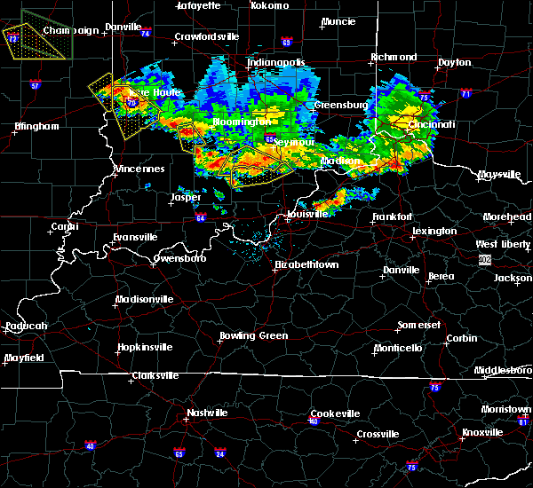 Radar Image for Severe Thunderstorms near Bedford, IN at 7/11/2020 7:39 PM EDT