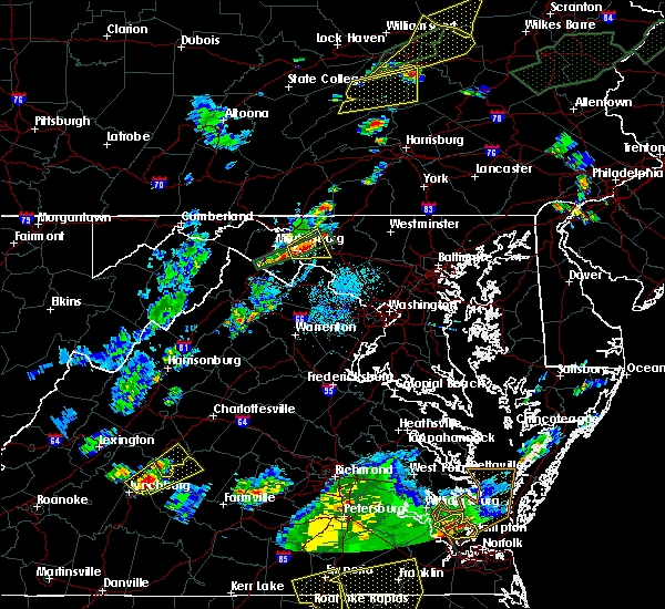 Radar Image for Severe Thunderstorms near Eakles Mill, MD at 6/30/2015 10:00 PM EDT