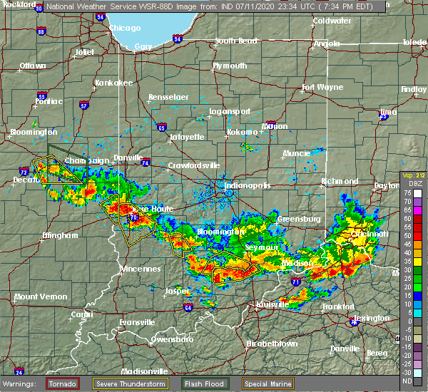 Radar Image for Severe Thunderstorms near Owensburg, IN at 7/11/2020 7:44 PM EDT