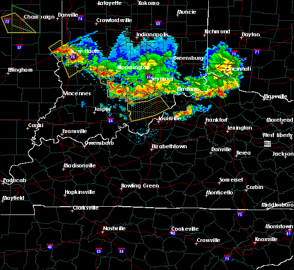 Radar Image for Severe Thunderstorms near Little York, IN at 7/11/2020 7:43 PM EDT