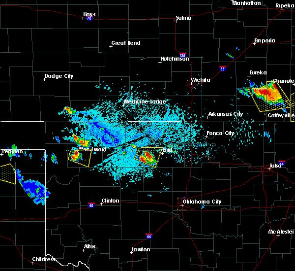 Radar Image for Severe Thunderstorms near Sharon, OK at 7/11/2020 6:44 PM CDT