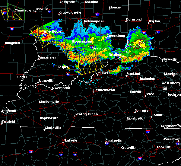 Radar Image for Severe Thunderstorms near Bedford, IN at 7/11/2020 7:47 PM EDT