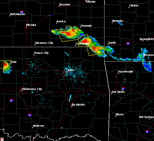 Radar Image for Severe Thunderstorms near Baxter Springs, KS at 7/11/2020 6:51 PM CDT
