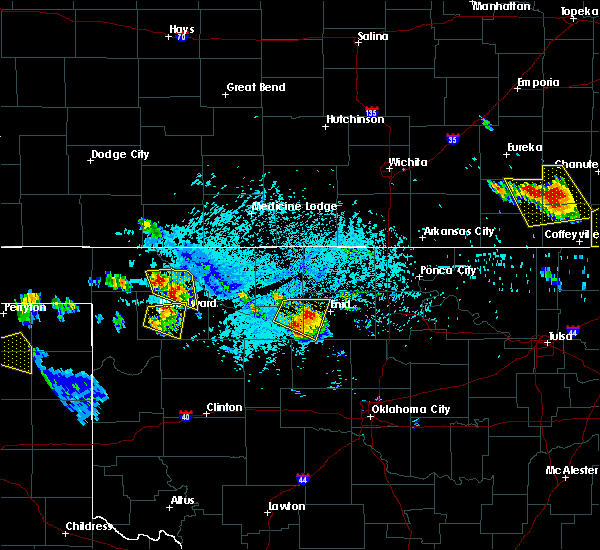 Radar Image for Severe Thunderstorms near Ames, OK at 7/11/2020 6:52 PM CDT