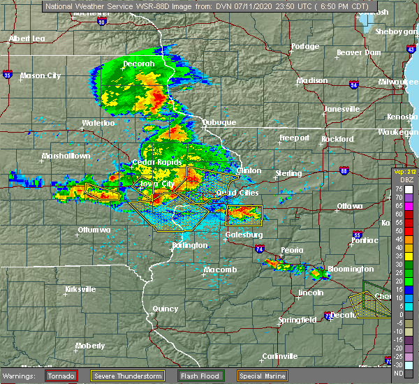 Radar Image for Severe Thunderstorms near Riverside, IA at 7/11/2020 6:55 PM CDT