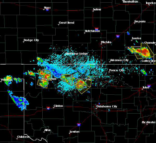 Radar Image for Severe Thunderstorms near Ames, OK at 7/11/2020 6:56 PM CDT