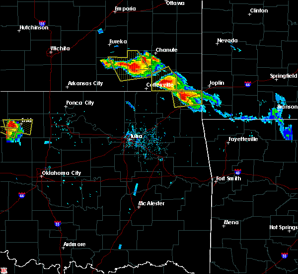 Radar Image for Severe Thunderstorms near Welch, OK at 7/11/2020 6:58 PM CDT