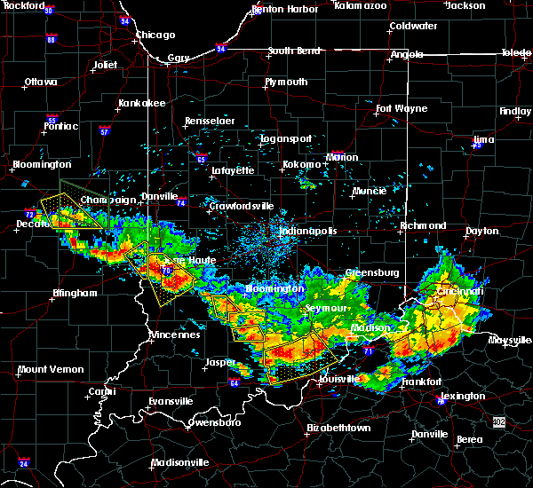Radar Image for Severe Thunderstorms near St. Mary of the Woods, IN at 7/11/2020 7:59 PM EDT