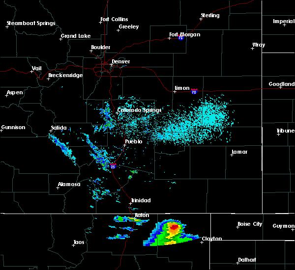 Radar Image for Severe Thunderstorms near Grenville, NM at 7/11/2020 6:00 PM MDT