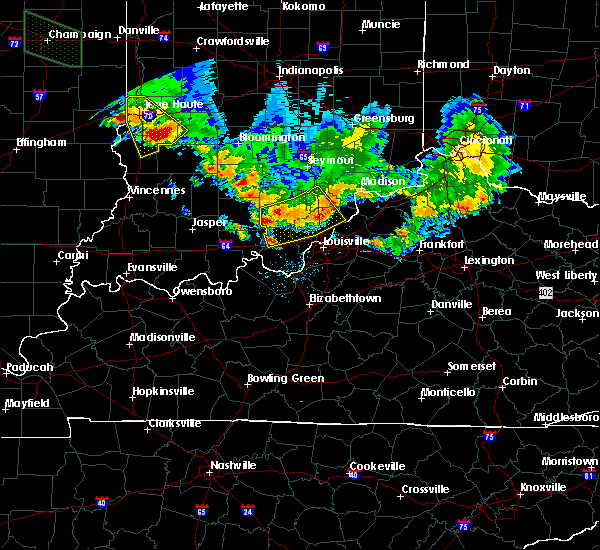 Radar Image for Severe Thunderstorms near Henryville, IN at 7/11/2020 8:05 PM EDT