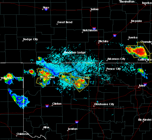 Radar Image for Severe Thunderstorms near Fairmont, OK at 7/11/2020 7:06 PM CDT