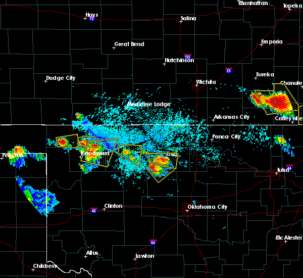 Radar Image for Severe Thunderstorms near Fairmont, OK at 7/11/2020 7:08 PM CDT