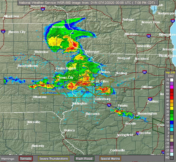 Radar Image for Severe Thunderstorms near Atalissa, IA at 7/11/2020 7:11 PM CDT