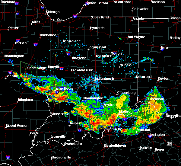 Radar Image for Severe Thunderstorms near Bloomfield, IN at 7/11/2020 8:12 PM EDT