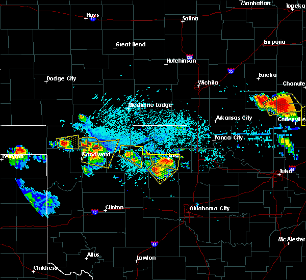 Radar Image for Severe Thunderstorms near Cleo Springs, OK at 7/11/2020 7:13 PM CDT