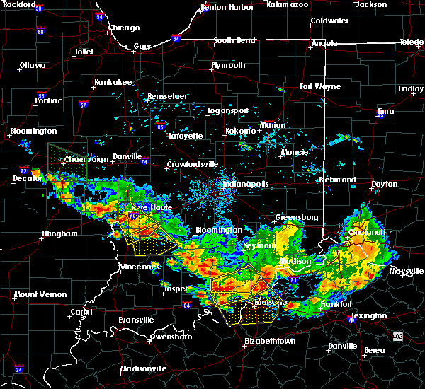 Radar Image for Severe Thunderstorms near St. Mary of the Woods, IN at 7/11/2020 8:13 PM EDT