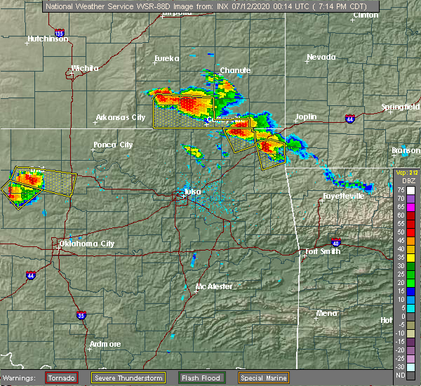 Radar Image for Severe Thunderstorms near Dodge, OK at 7/11/2020 7:21 PM CDT