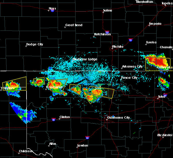 Radar Image for Severe Thunderstorms near May, OK at 7/11/2020 7:25 PM CDT