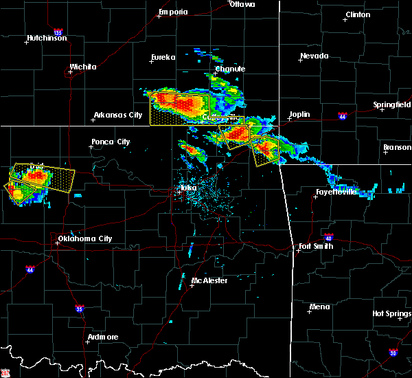 Radar Image for Severe Thunderstorms near Niotaze, KS at 7/11/2020 7:30 PM CDT