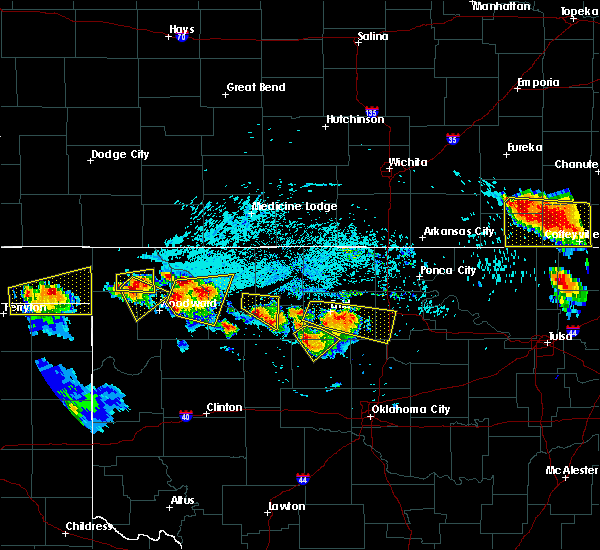 Radar Image for Severe Thunderstorms near Cleo Springs, OK at 7/11/2020 7:30 PM CDT