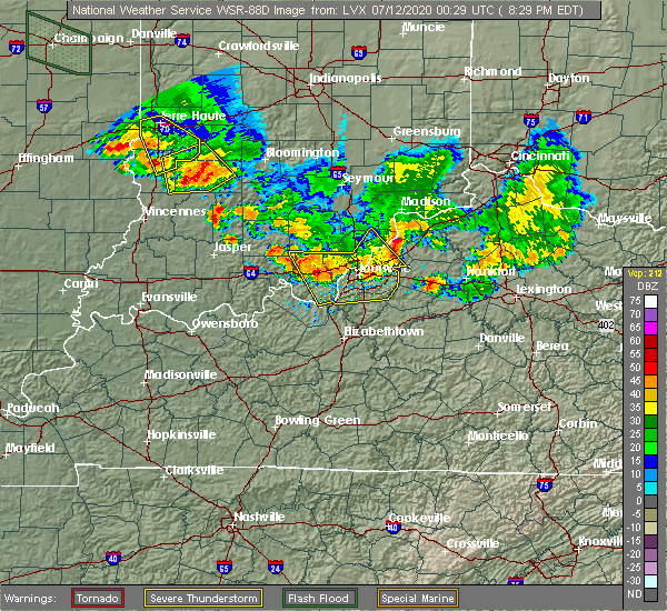 Radar Image for Severe Thunderstorms near New Castle, KY at 7/11/2020 8:34 PM EDT