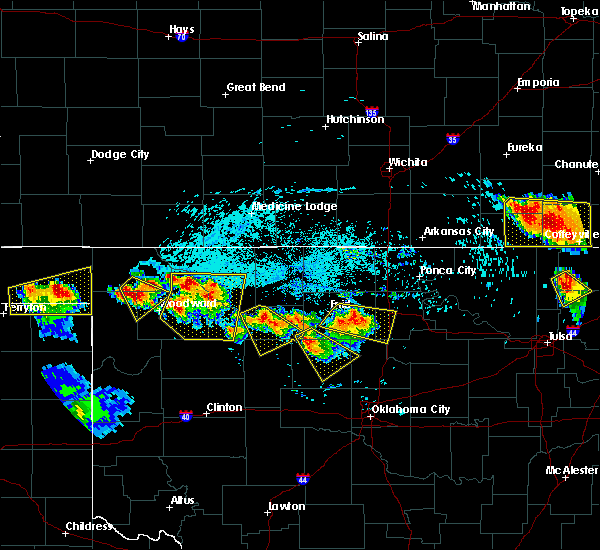 Radar Image for Severe Thunderstorms near Fairmont, OK at 7/11/2020 7:40 PM CDT